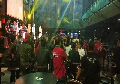 Salah satu tempat hiburan malam yang dirazia Polda Riau.