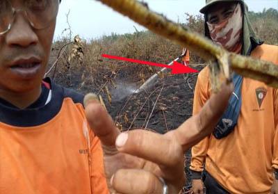 Petugas pemadam Karhutla lagi-lagi temukan ular