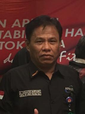 Ketua DPP Asosiasi Pengusaha Gula dan Terigu (APEGTI) Provinsi Riau Ir.Nur Ja