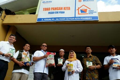 Toko Pangan Kita sudah dibuka di beberapa titik Kota Pekanbaru