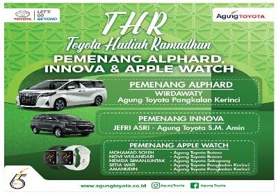 Promo penjualan THR-Toyota Hadiah Ramadan 2019.