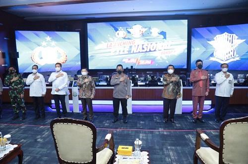 Kapolri Jenderal Listyo Sigit Prabowo meresmikan launching tilang elektronik atau Elektronic Traffic law enforcement (Etle) nasional tahap 1