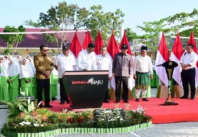 Presiden Jokowi Resmikan Rehabilitasi MTsN 3 Pekanbaru.