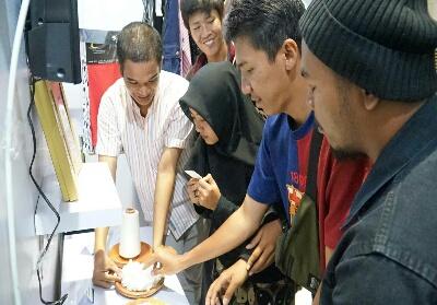 Suasana stand APRRiau Expo 2019 yang diadakan pada 31 Agustus hingga 4 September 2019.