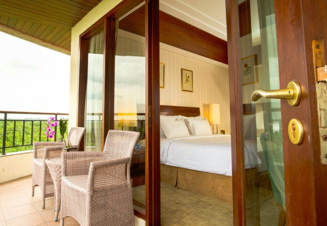 Salah satu tipe kamar di Hotel Labersa Pekanbaru.
