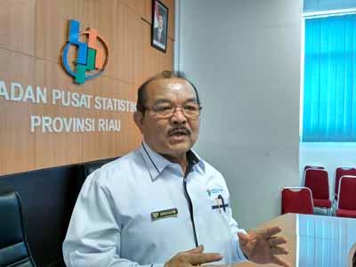 Kepala BPS Riau Aden Gultom