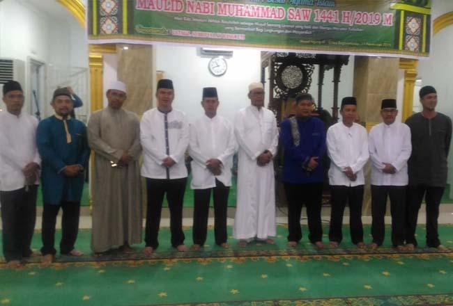 Peringatan Maulid di Masjid Agung Al-Ikhlas Bagansiapiapi, Senin (11/11/2019) malam.