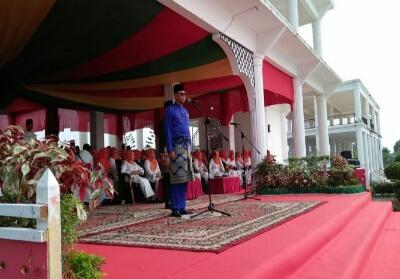Bupati Rohil Suyatno saat jadi Irup.