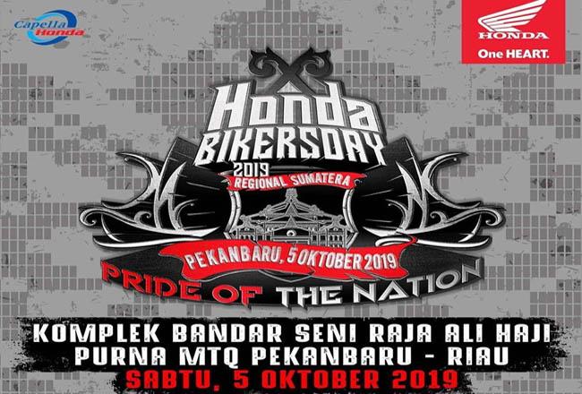 Honda Bikers Day Regional Sumatera 2019