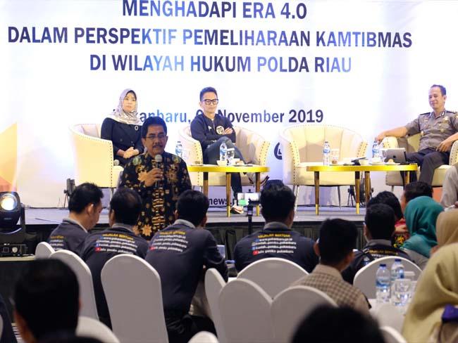 Kegiatan literasi media di wilayah hukum Polda Riau.