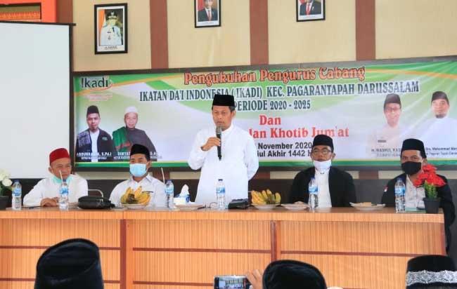 Pjs Bupati Rohul Masrul Kasmy, hadiri pengukuhan pengurus Ikadi Pagaran Tapah Darussalam.