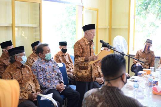Sekretaris Daerah (Sekda) Provinsi Riau, Yan Prana Jaya hadiri Hari Ulang Tahun (HUT) ke-58 PWRI Provinsi Riau di Kantor PWRI Riau Jl. Setiabudi, Sabtu (8/8/2020).