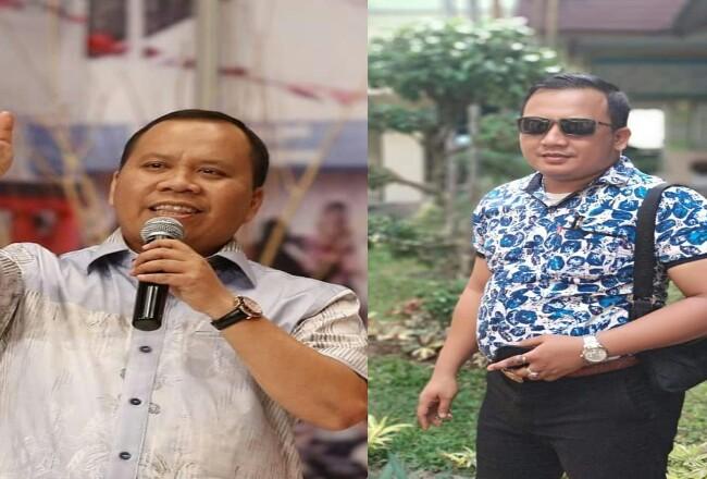 Bupati Kepulauan Meranti, Drs H Irwan dan Kuasa Hukum SA, Ahmad Yusuf SH