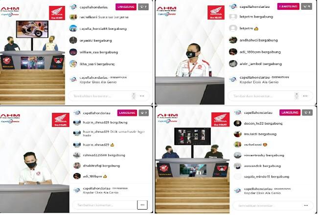 Kopdar komunitas Honda digelar secara online melalui platform online live instagram dan zoom meeting.
