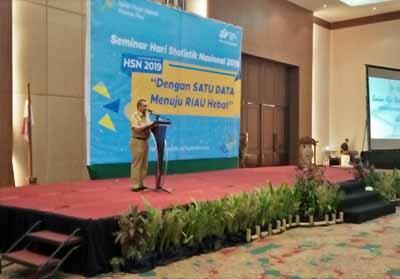 Wagubri Edy Natar Nasution saat memberikan kata sambutan di HSN.