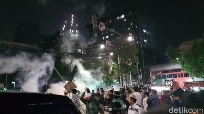 Suasana di Jalan Wahid Hasyim, Jakarta Pusat. FOTO: Farih/detikcom
