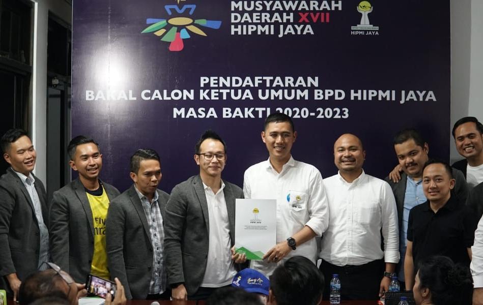 Muhamad Alipudin saat ditemui di Sekretariat BPD HIPMI Jaya, Jakarta (21/2/2020) pada acara pendaftaran Calon Ketua BPD HIPMI Jaya 2020-2023
