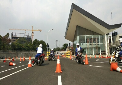 Instruktur safety riding Honda binaan PT AHM mengikuti kompetisi The 20th Safety Japan Instructors Competition 2019.
