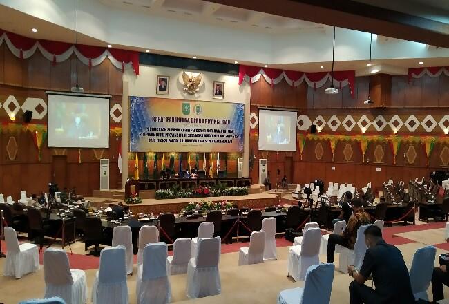 Rapat Paripurna DPRD Riau.