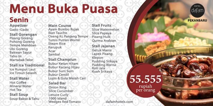Paket Berbuka Puasa di Hotel Dafam Hanya Rp55.555, Banyak ...