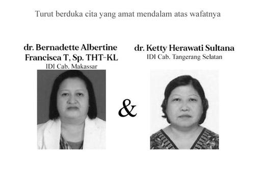 Dokter anggota IDI yang meninggal terkait corona. FOTO: PB IDI
