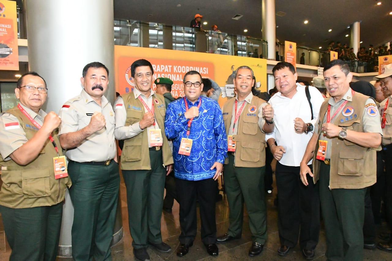 Wagubri hadiri Rakor Penanggulangan Bencana 2020, Selasa (4/2/2020), di Sentul, Jabar.