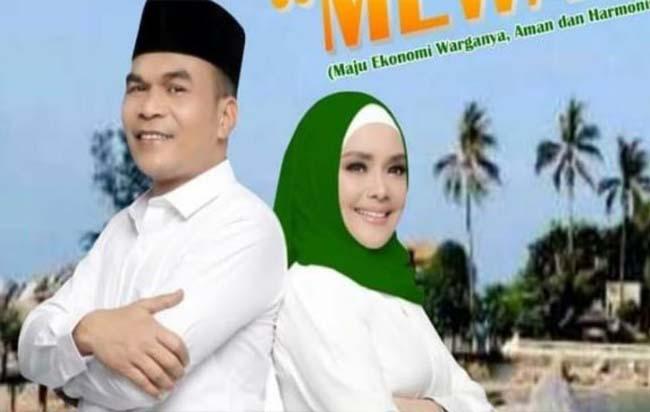 Pasangan calon Bupati dan wakil Bupati Bengkalis Kader Rismanto - Iyeth Bustami (KDI)