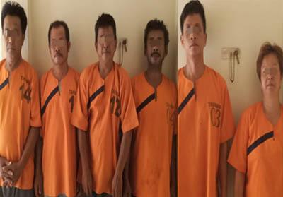 6 tersangka kasus Prostitusi Anak di Bawah Umur.
