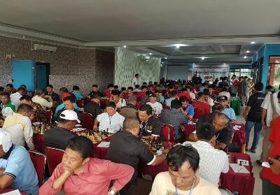 Kejuaraan catur tingkat Provinsi Riau di Kampar.
