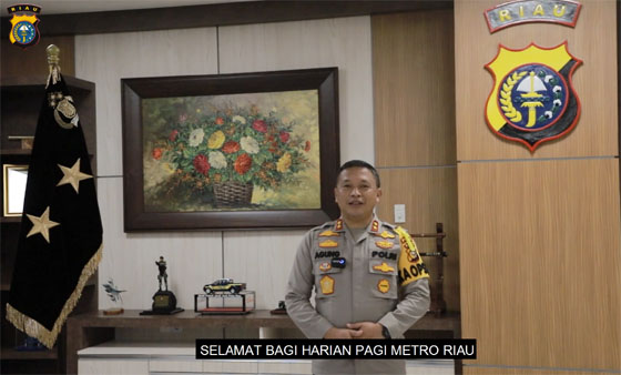 Kapolda Riau Irjen Pol Agung Setya Imam Effendi, S.H., S.I.K., M.Si