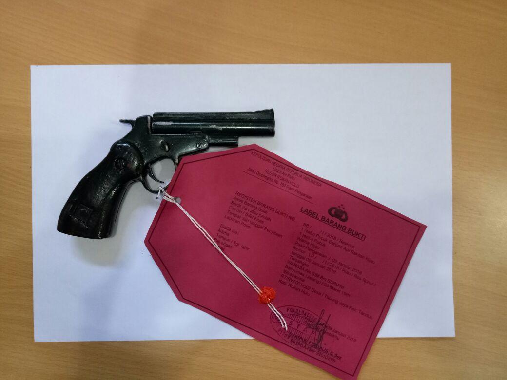 Barang bukti senjata api rakitan ilegal