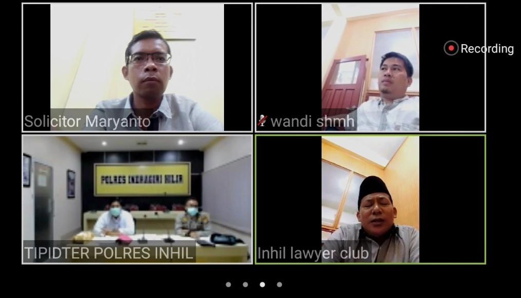 Gelar perkara kasus Karhutla via video telekonferensi.