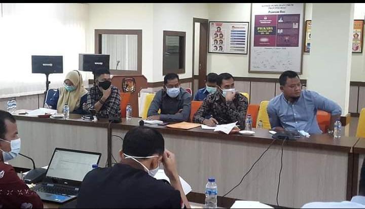 Para Komisioner KPU Kepulauan Meranti diundang rakor di Pekanbaru untuk menyiapkan sejumlah bahan untuk menghadapi sidang di MK.