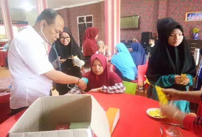 Lembaga Pengembangan Tilawatil Quran (LPTQ) Kabupaten Rokan Hilir (Rohil) cek kesehatan peserta TC.