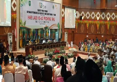 Rapat Paripurna HUT ke-62 Provinsi Riau.