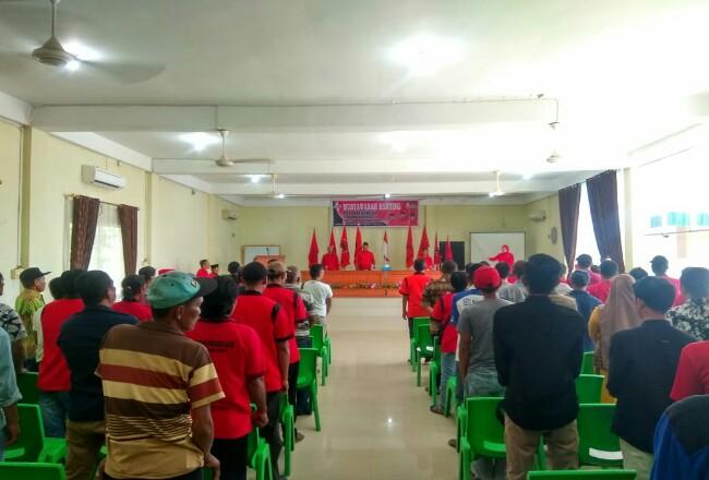 Musyawarah Ranting PDIP-P di Inhu.