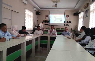 Kunjungan kerja ke Dinas Kesehatan (Diskes) Kota Pekanbaru guna membahas persoalan dampak kabut asap