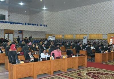 Sidang Paripurna pembentukan fraksi DPRD Bengkalis.