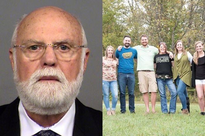 Dr. Donald Cline dan anak-anak pasiennya yang ternyata anaknya biologisnya.