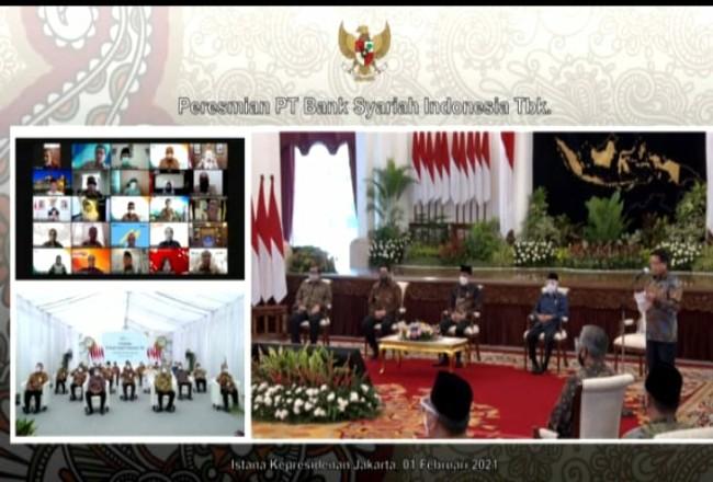 Peresmian Bank Syariah Indonesia dilakukan secara langsung oleh Presiden Republik Indonesia, Joko Widodo di Istana Negara, Jakarta.