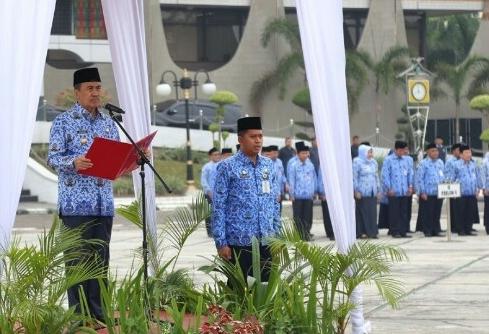Gubri Syamsuar jadi Irup upacara peringatan Hari Kesaktian Pancasila.