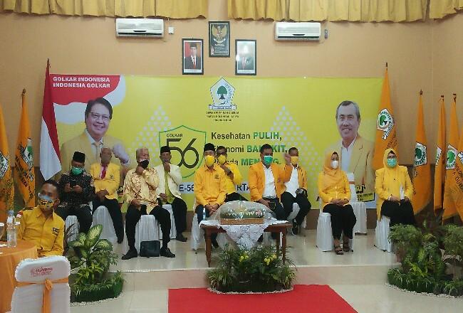 Sykuran HUT ke-56 Partai Golkar diselenggarakan secara virtual.