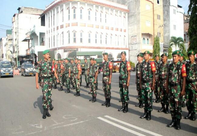 TNI Polri siaga jelang pelantikan Presiden tadi pagi.