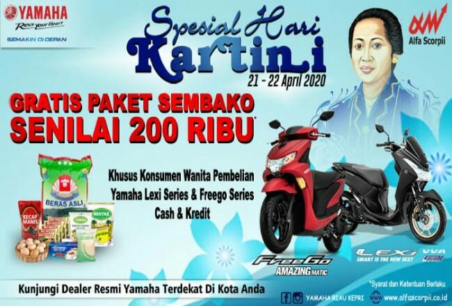 Yamaha beri penawaran khusus di hari Kartini kepada konsumen.