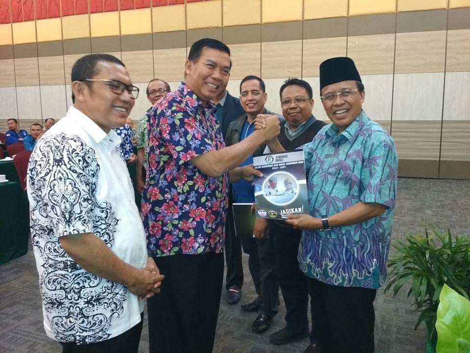 Cagubri Firdaus bersama DR H Chaidir selaku Ketua Tim Koalisi