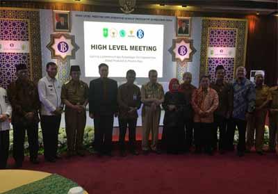Edukasi Pengelolaan Wakaf Produktif dan Sertifikasi Nazhir Wakaf Uang di Aula BI Provinsi Riau, Selasa (27/8/2019).