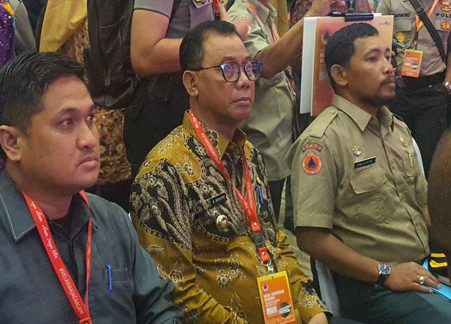 Bupati Rokan Hilir (Rohil), Suyatno menghadiri Rakornas Penanggulangan Bencana tahun 2020 di SICC Sentul Bogor, Propinsi Jawa Barat, Selasa (4/2/2020).