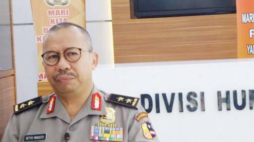 Kepala Divisi Humas Mabes Polri Irjen Pol Setyo Wasisto saat menghadiri acara di sekitar Bundaran HI, Jakarta, Minggu (23/9/2018).