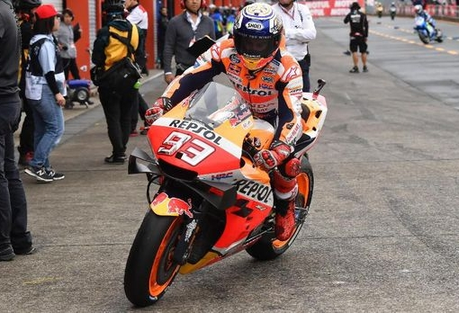 Marc Marquez menjadi penyumbang poin utama di Repsol Honda. FOTO: AFP