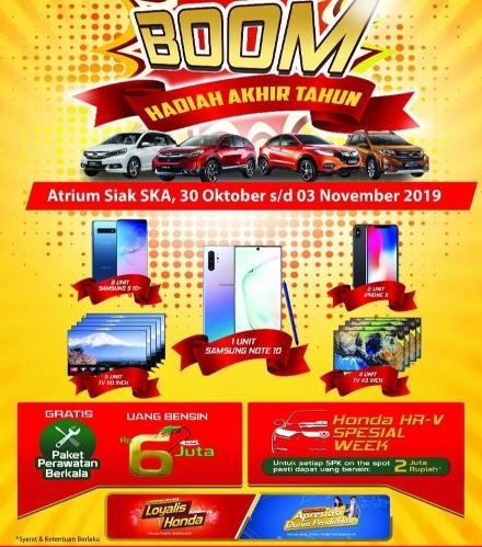 Ilustrasi promo BOOM Honda